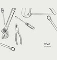 repair carpentry and woodwork work tools sketch vector image vector image
