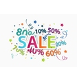 Sale celebration with percent discount vector image vector image