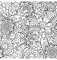 Seamless black and white pattern vector image vector image