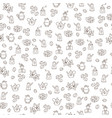 seamless coffee pattern with coffee beans vector image vector image