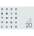 Set of world religions icons vector image vector image