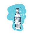 soda cola bottle hand drawn icon vector image vector image