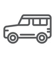 suv line icon transport and auto car sign vector image