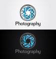 Symbol of camera shutter template logo design