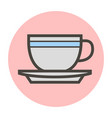 tea cup on a saucer vector image vector image
