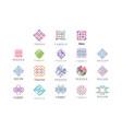 textile fabric decor logo design set tailor vector image vector image