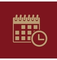 The calendar icon Reminder and event time symbol