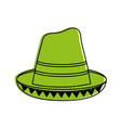 traditional hat mexican culture icon image vector image vector image