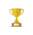 trophy cup flat icon eps 10 vector image