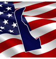 united states delaware dark blue silhouette vector image vector image