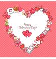 valentine card frame heart vector image vector image