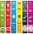Vertical web banners templates vector image vector image