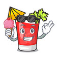 with ice cream bloody mary character cartoon vector image