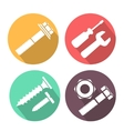 Bolt and nut flat icon vector image