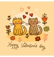 cute cat valentines card vector image