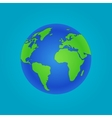 Isolated Globe icon and green map vector image