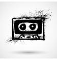 Grunge cassette icon vector image