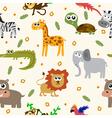 African animals seamless pattern Cartoon childish vector image