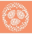 Floral card for Easter day vector image
