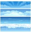 Skyscape set vector image