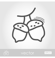 Acorn outline icon Harvest Thanksgiving vector image vector image
