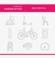active lifestyle outline icon set vector image