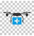 Ambulance Drone Icon vector image vector image