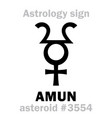 astrology asteroid amun vector image vector image