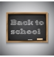 Back to School Chalkboard Background vector image vector image
