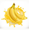 banana juice fresh fruit 3d icon vector image vector image