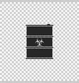 biological hazard or biohazard barrel icon vector image vector image