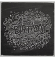 Birthday chalkboard background vector image