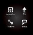 Black silver icon set vector image vector image