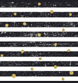 black textured lines and chaotic golden dots vector image vector image