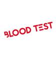 blood test rubber stamp vector image vector image