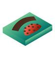 bonbon green box icon isometric style vector image