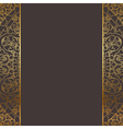 brown and gold frame vector image vector image