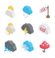 climatic conditions icons vector image