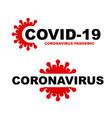 coronavirus symbol text background vector image vector image