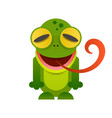 cute frog cartoon isolated on white background vector image
