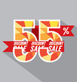 Discount 55 Percent Off vector image vector image