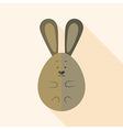 Easter rabbit egg shaped vector image