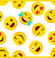 emoticon seamless pattern emotions cartoon emojis vector image vector image