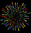 explosion of fireworks glowing light effects vector image