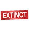 extinct grunge rubber stamp vector image