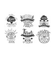 farm market retro labels set fresh organic vector image vector image