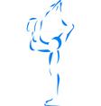 Figure skater vector image
