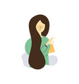 flat girl suffering from cold due vector image