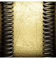 golden and silver background vector image vector image