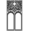 Gothic style frame vector image